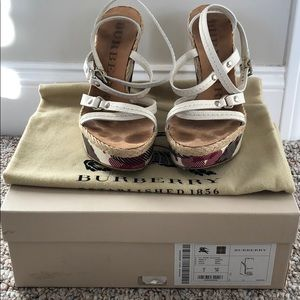 Burberry Wedges size 6